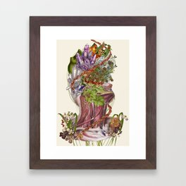 """""""crowned"""" anatomical collage art by bedelgeuse Framed Art Print"""