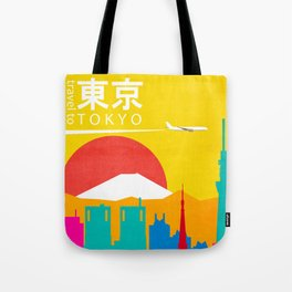 Travel to Tokyo Tote Bag