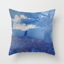 Everything Blue Throw Pillow