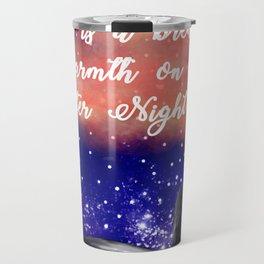 Warmth on a Winter Night Travel Mug