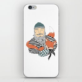 Man and fox. iPhone Skin