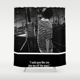 now thats just rude Shower Curtain
