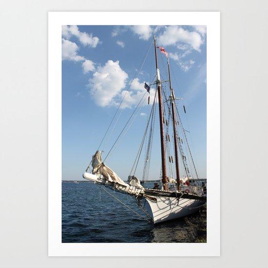 """Sailboat """"Tall Ship Manitou"""" Art Print"""