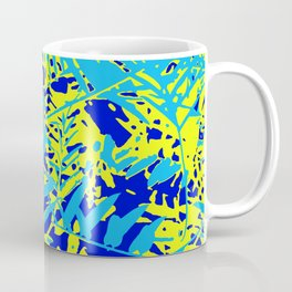 Happy Blue Yellow Green Foliage Coffee Mug