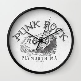 THE ORIGINAL PUNK ROCK PLYMOUTH MA Wall Clock