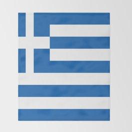 Flag of Greece Throw Blanket