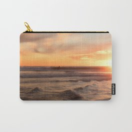 Surfing at Sunset Carry-All Pouch