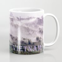 vietnam Mugs featuring FOGGY MOUNTAIN - VIETNAM - ASIA by CAPTAINSILVA
