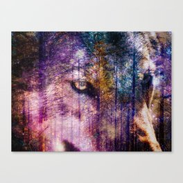 Wolf Forest : These Are My Forests Canvas Print