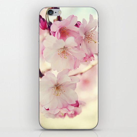 cotton candy flowers iPhone & iPod Skin