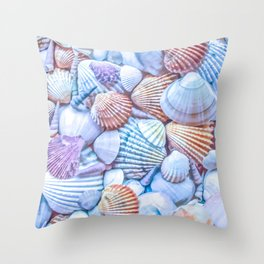 Seashells Everywhere Throw Pillow
