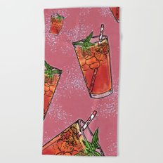 THERE'S ALWAYS TIME FOR ICE TEA! - PINK Beach Towel