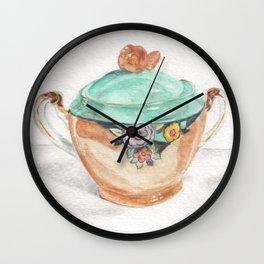 Sugar and Creamer Wall Clock