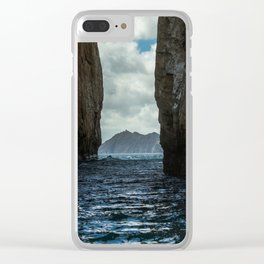 Kicker Rock Galapagos Clear iPhone Case