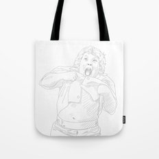 Chunk, Lawrence Cohen, Goonies black and white Tote Bag