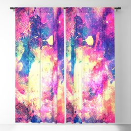 Colorful Watercolor Abstract background. Multicolor grunge psychedelic blue pink texture tie dye Blackout Curtain