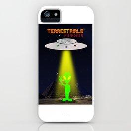 Terrestrials' friends - Aliens and Pyramids iPhone Case