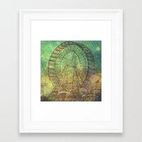ferris wheel Framed Art Prints featuring Ferris Wheel by Creative Vibe
