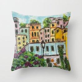 Viareggio Villas Throw Pillow