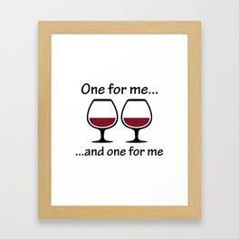 One For Me ... Framed Art Print