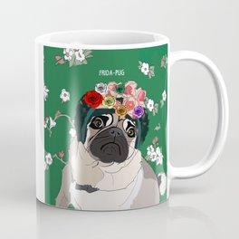 Frida-Pug Coffee Mug
