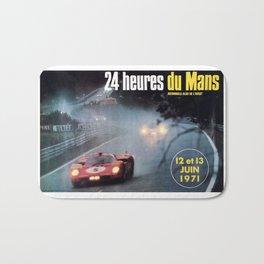Le Mans 1972, race poster, car poster Bath Mat