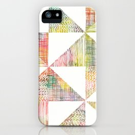 Abstract Geometric Watercolor by Zouzounio Art iPhone Case