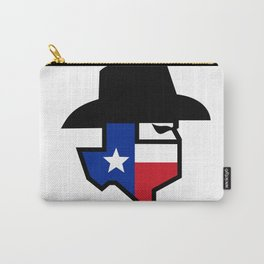 Bandit Texas Flag Icon Carry-All Pouch