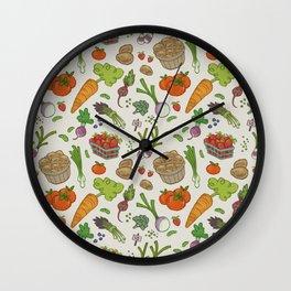 Farmer's Market: Veggies & Fruit Wall Clock