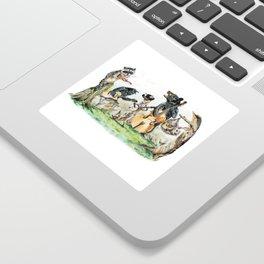 """"""" Bluegrass Gang """" wild animal music band Sticker"""