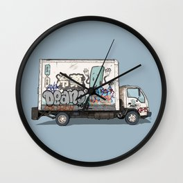 Japanese Ice Cream Truck Wall Clock