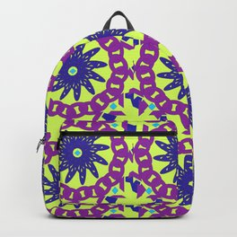 Chained Link Purple Spiral Flowers Backpack