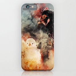 Hen And Chick iPhone Case