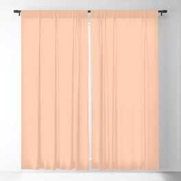 Sunset Sings Quietly ~ Peach Sherbet Blackout Curtain