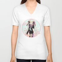 soldier V-neck T-shirts featuring ☽ Pretty Soldier ☾ by ♡ SUSHICORE ♡