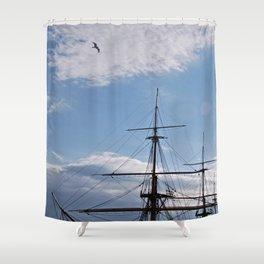 HMS Warrior Shower Curtain