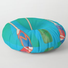 Paddles of memories Floor Pillow