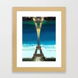 Paris Night and Day (print) Framed Art Print