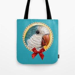 Blue quaker parrot realistic painting Tote Bag