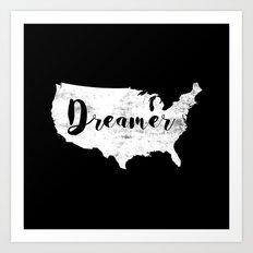 Dreamer USA Art Print