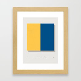 Kilo Modern Nautical Maritime Framed Art Print