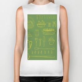Gardening and Farming! - illustration pattern Biker Tank