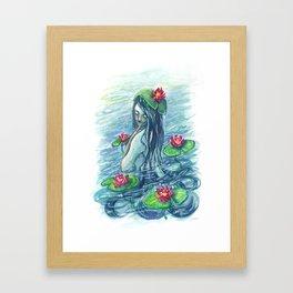 Lily Pad Maiden Framed Art Print