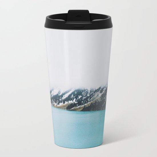 Turquoise water Metal Travel Mug