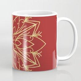 Golden Snowflake Coffee Mug