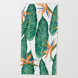 Banana And Flowers #society6 Beach Towel