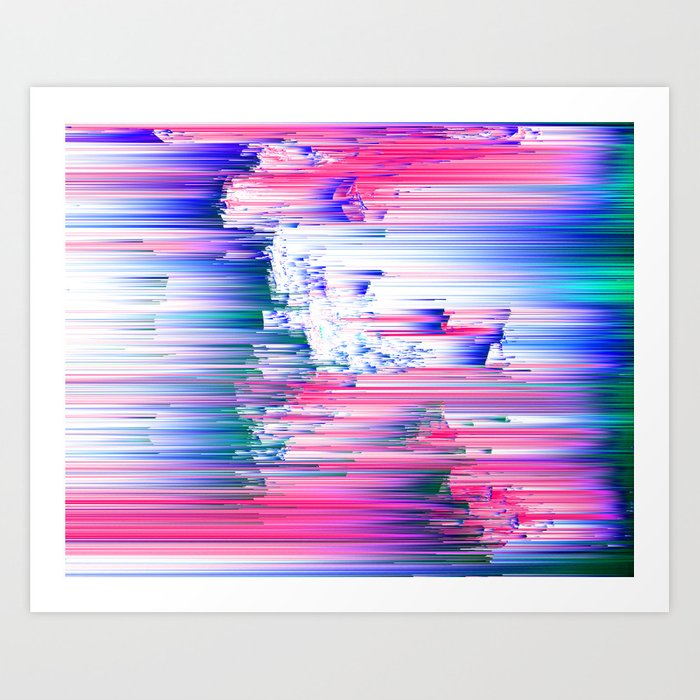 Only 90s Kids - Pastel Glitchy Abstract Pixel Art Art Print by ...