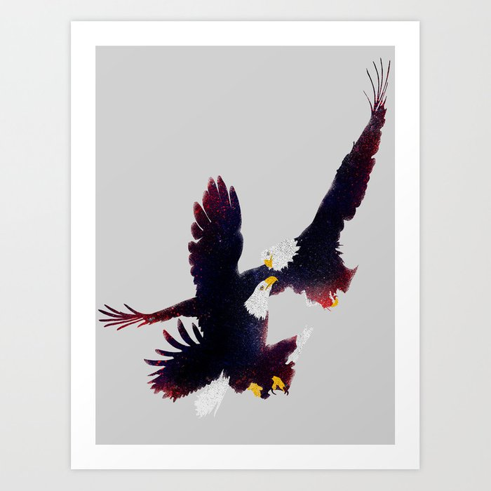 Fighting Falcon Art Print