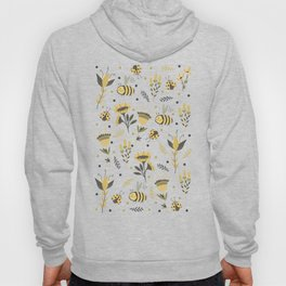 Bees and ladybugs. Gold and black Hoody