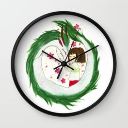 Watercolor Spirited Away - The Love Gathering Wall Clock